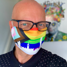 Load image into Gallery viewer, LGBTQ+ mask in support of the LGBT foundation