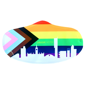 LGBTQ+ mask in support of the LGBT foundation