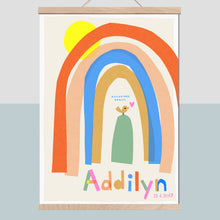 Load image into Gallery viewer, Rainbow Personalised Name Print