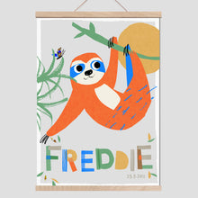 Load image into Gallery viewer, Sloth Personalised Name Print