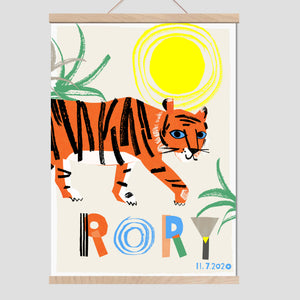 Tiger Personalised Name Print