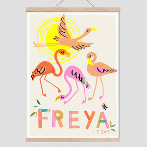 Flamingo Personalised Name Print