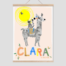 Load image into Gallery viewer, Llama Personalised Name Print
