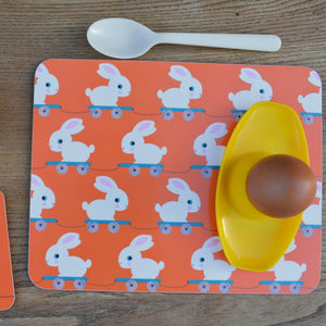 Melamine Placemat 'Meals on Wheels- Bunny