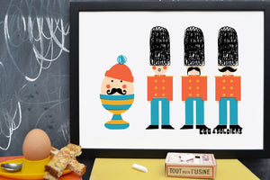 Limited Edition Egg & Soldiers Screen print