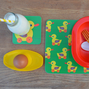 Melamine Placemat 'Meals on Wheels- Duck