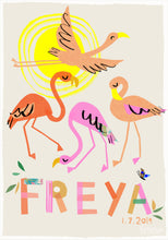 Load image into Gallery viewer, Flamingo Personalised Name Print