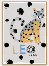 Load image into Gallery viewer, Leopard Personalised Name Print (Pink or Grey)