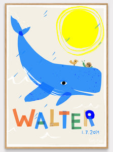 Whale Personalised Name Print