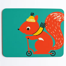 Load image into Gallery viewer, Melamine Placemat 'Scooting Squirrel'