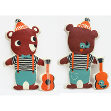 Load image into Gallery viewer, Tea Towel DIY Busking bear toy