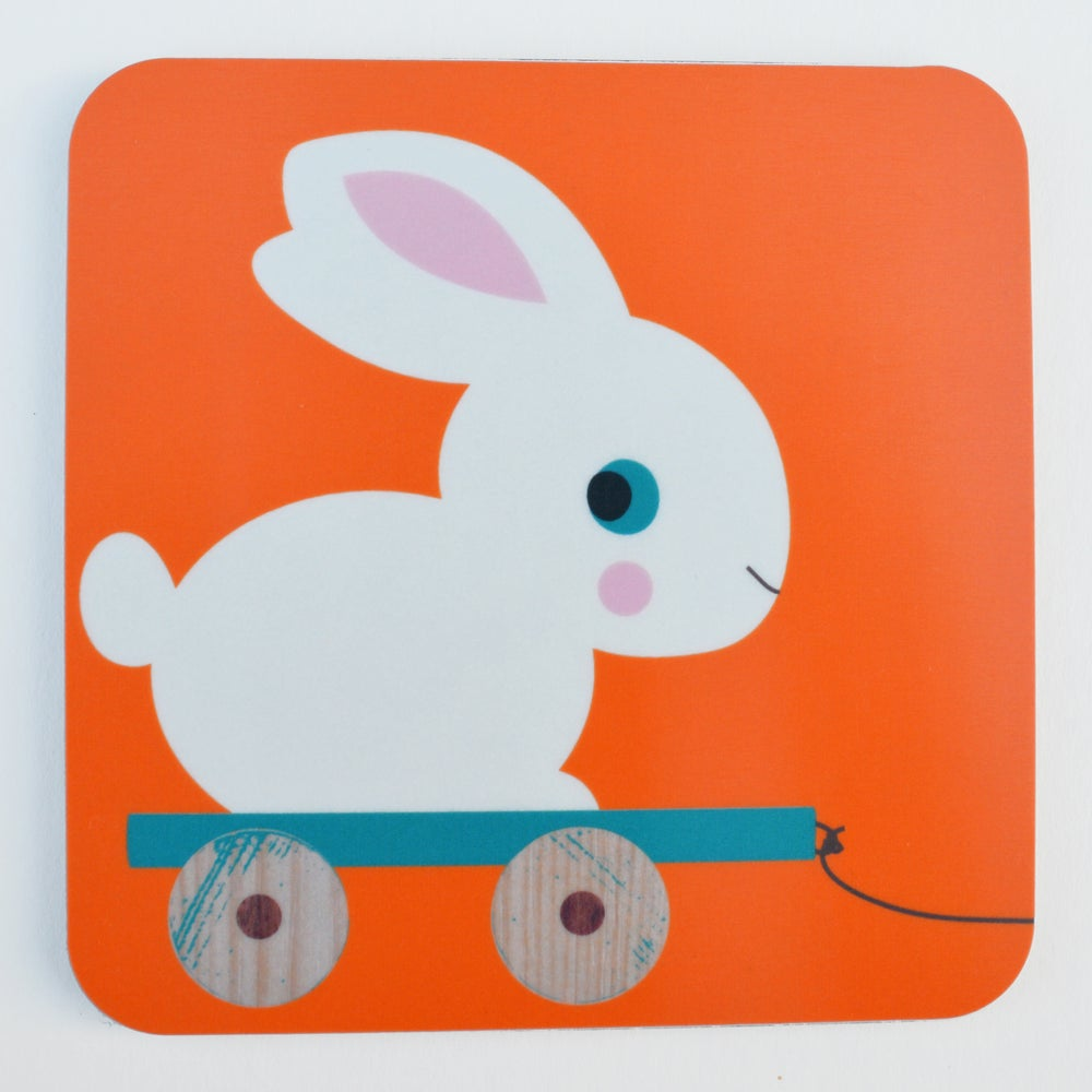Melamine Coaster 'Meals on wheels- Bunny'