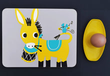 Load image into Gallery viewer, Melamine Placemat 'Drumming Donkey'