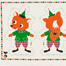 Load image into Gallery viewer, Tea Towel DIY Funny Fox toy