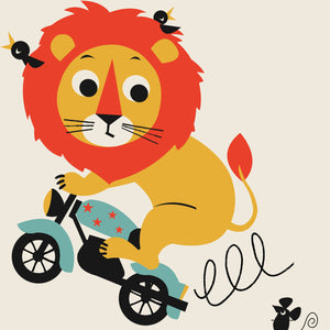 'L' Personalised 'Leaping Lion' Name Print