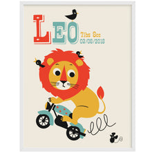 Load image into Gallery viewer, Leaping Lion Personalised Name Print