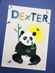 Panda Personalised Name Print