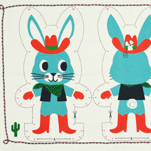 Load image into Gallery viewer, Tea Towel DIY Rodeo Rabbit toy
