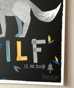 Wolf Personalised Name Print