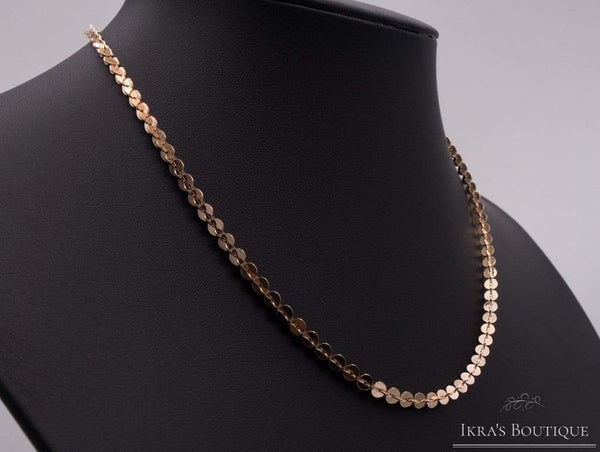 Ikrasboutique necklace Berceste series Necklace with offset round plates