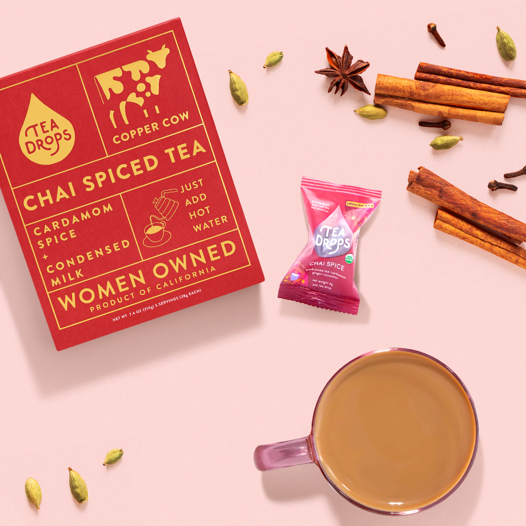 Tea Drops Chai Latte kit with spices