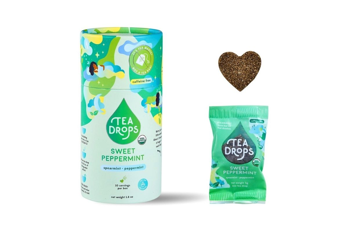 peppermint tea cannister