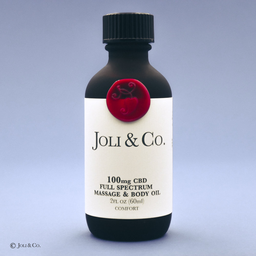 100mg Full Spectrum Massage & Body Oil, Comfort blend