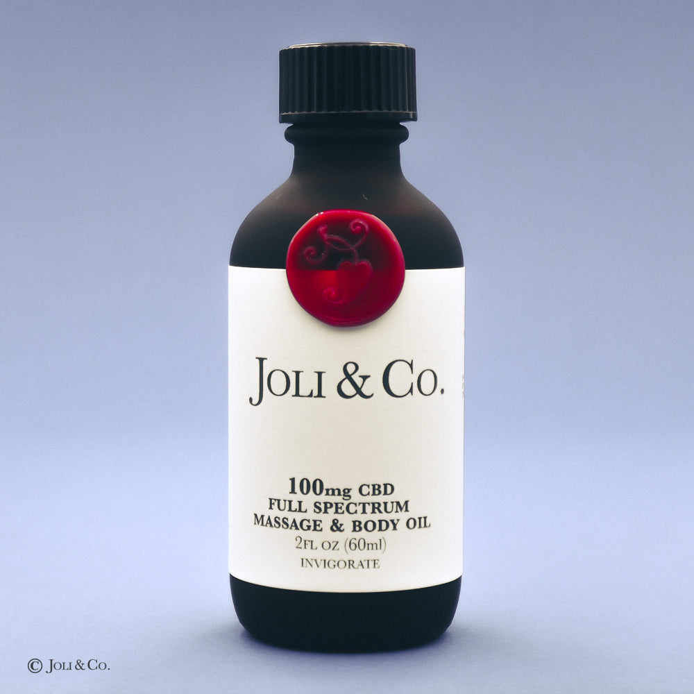 100mg Full Spectrum Massage & Body Oil, Invigorate blend