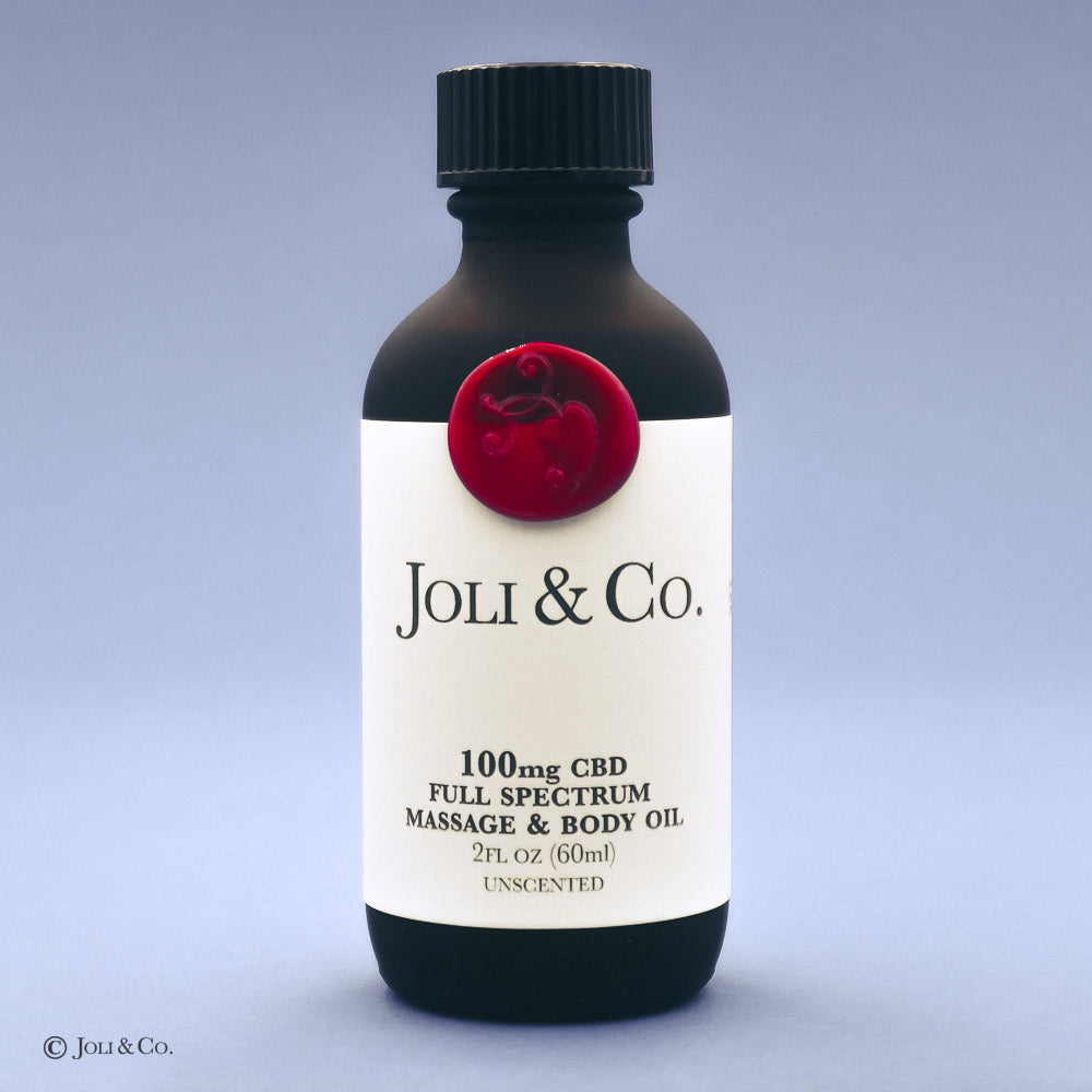 100mg Full Spectrum Massage & Body Oil, unscented