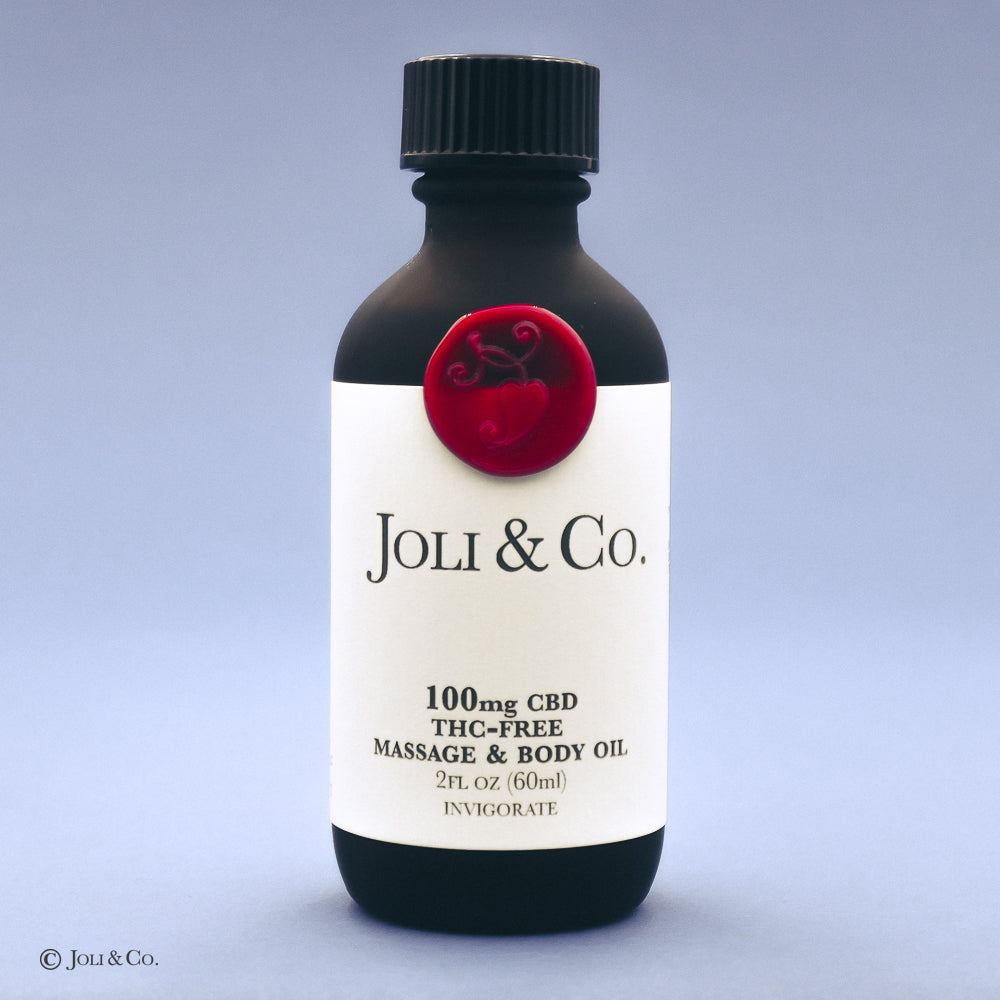 100mg THC-Free Massage & Body Oil, Invigorate blend