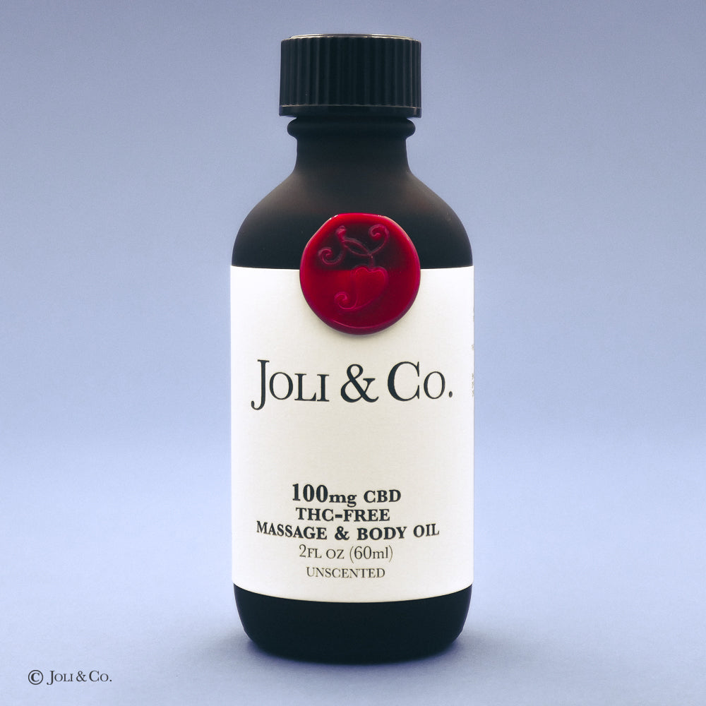 100mg THC-Free Massage & Body Oil, unscented