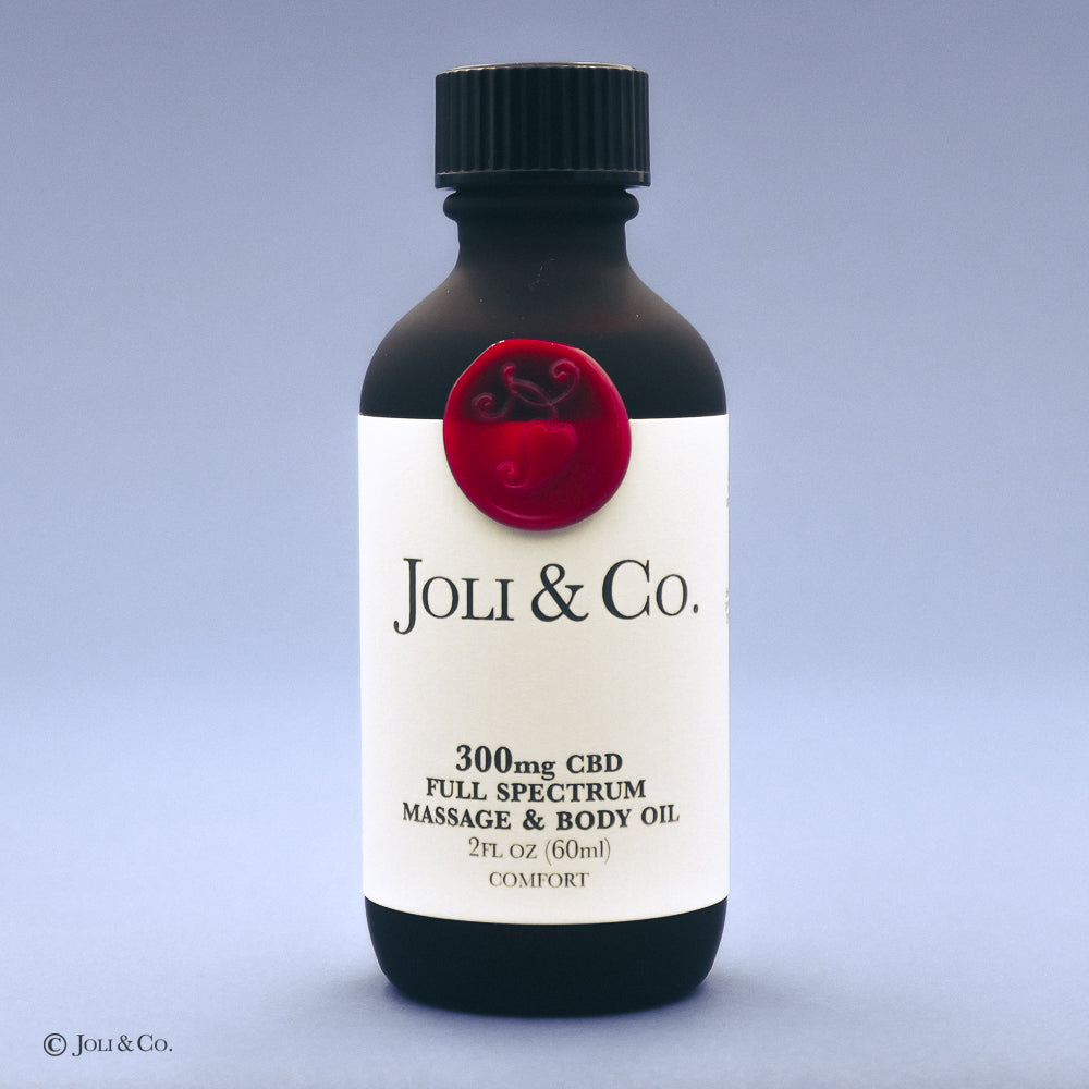 300mg Full Spectrum Massage & Body Oil, Comfort blend