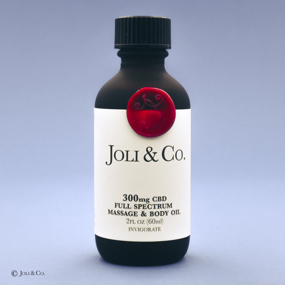 300mg Full Spectrum Massage & Body Oil, Invigorate blend