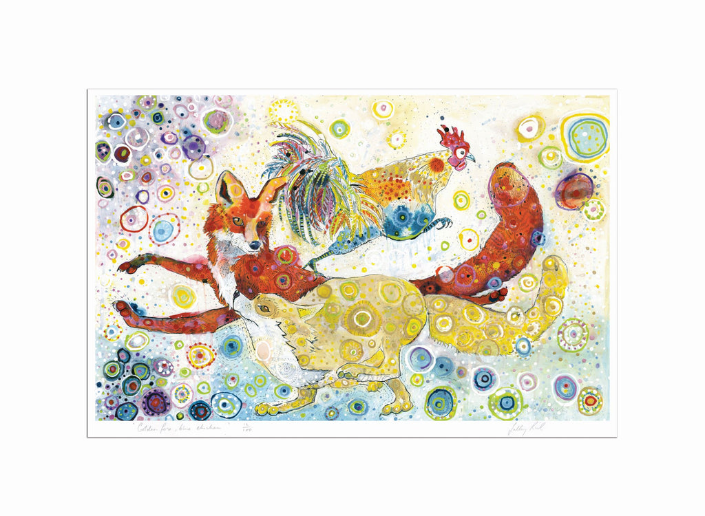 Colourful Fox Giclee Print High Quality