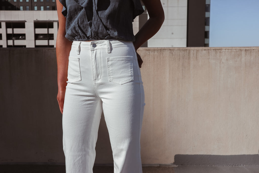 Boss Babe White Straight Leg Jeans