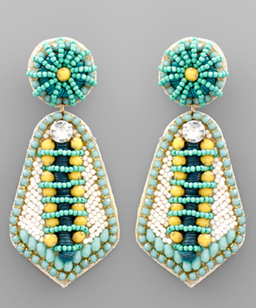 Mint Beaded Earrings
