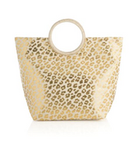 Gold Animal Print Tote