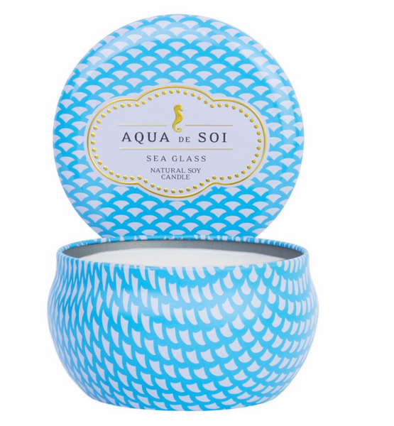 Aqua De SOi Candle Tin, Sea Glass