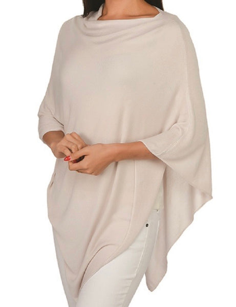 Poncho- Light Taupe