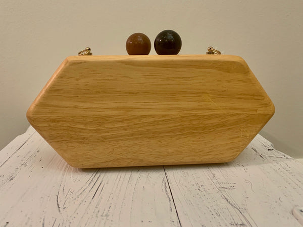 Oblong Wooden Clutch
