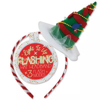 Dark Green Christmas Lights Headband