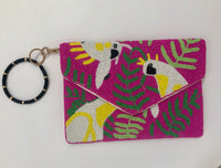 Key Ring or Clutch Wristlet, Black
