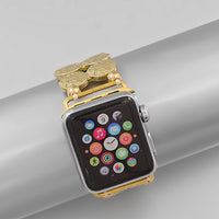 Gold coin style apple watch band