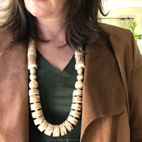 Boho Chic Neutral Statement Necklace