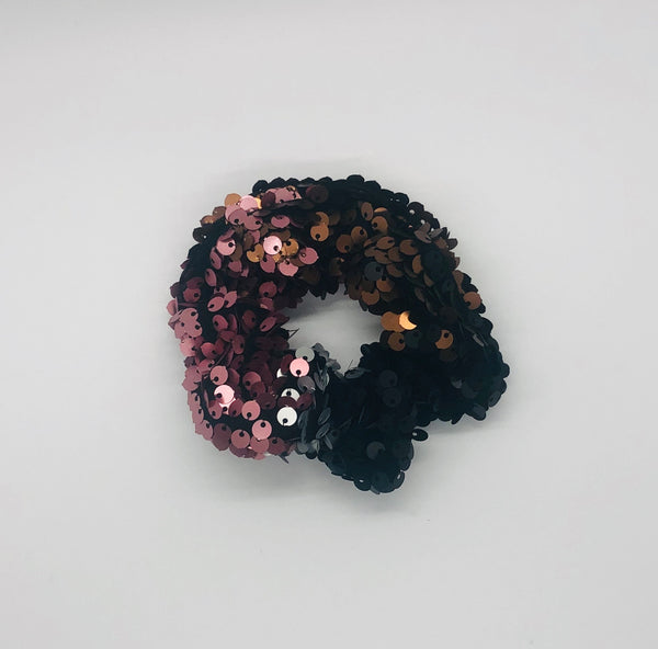 Scrunchie- Pink, Black, Chrome Sequin