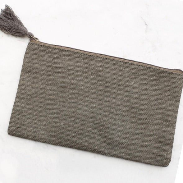 Jute Pouch, Olive