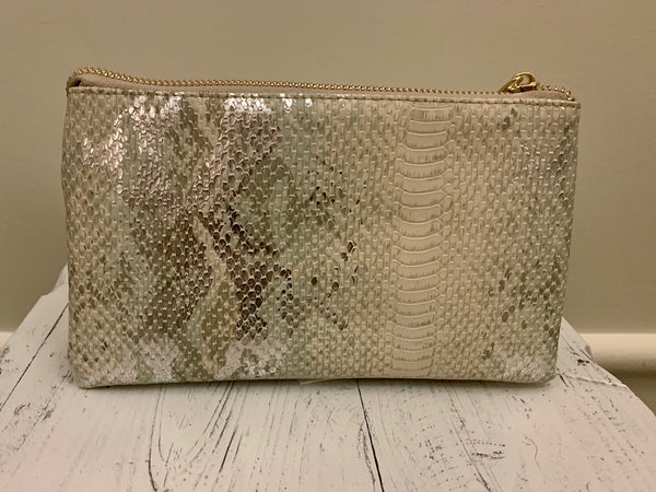 Snake Skin Crossbody - Mint