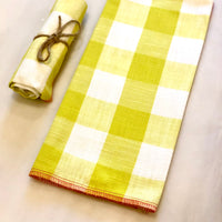Checkered Dish Towel, Chartreuse