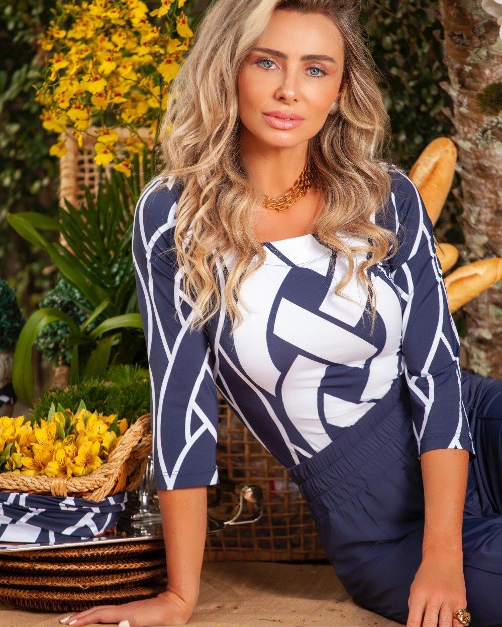 Blusa Tresse Navy by One Up - Ana Vargas