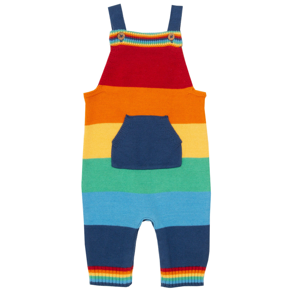 Load image into Gallery viewer, Kite Rainbow Knit Dungarees